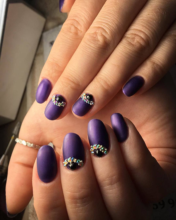 Purple Christmas Nail Art Designs Ideas For Winter Page 23 Of 96