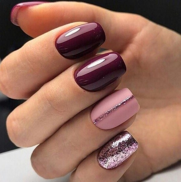 50 Chic Burgundy Nail Designs For Winter 2019 Page 16 Of 50 Soflyme