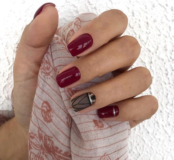 50 Chic Burgundy Nail Designs For Winter 2019